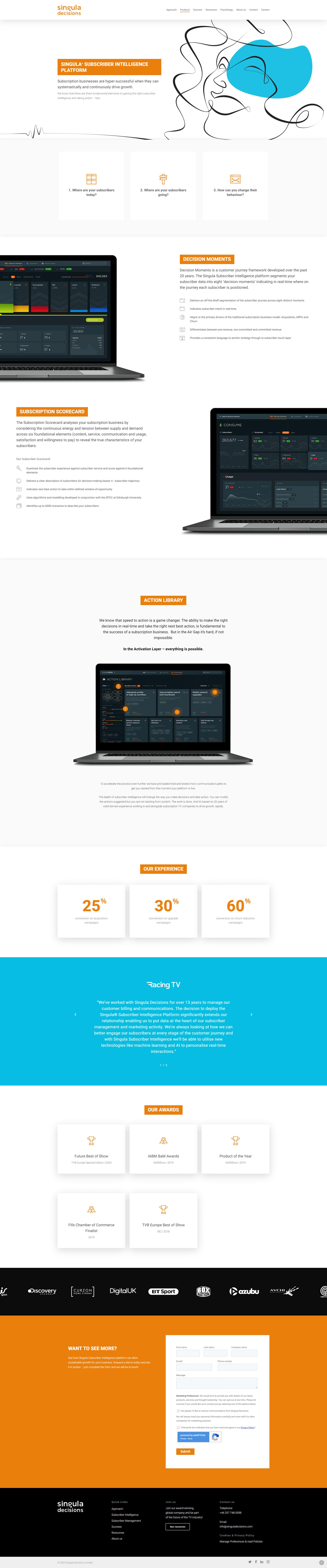 screencapture singuladecisions singula subscriber intelligence platform